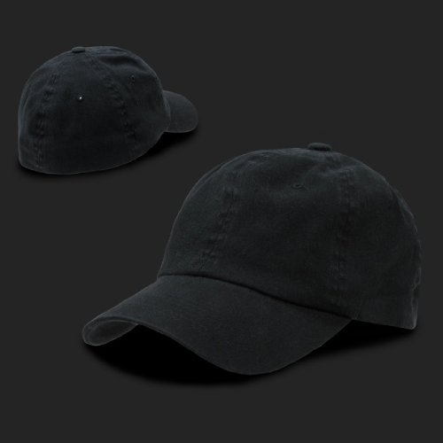 low profile fitted baseball cap hats black polo style flex hat flexible headband