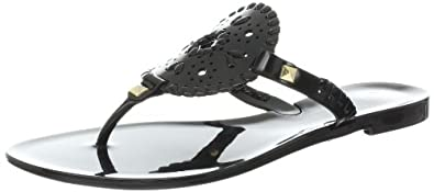 Jack Rogers Women's Georgica Jelly Sandal,Black/Black,5 M US