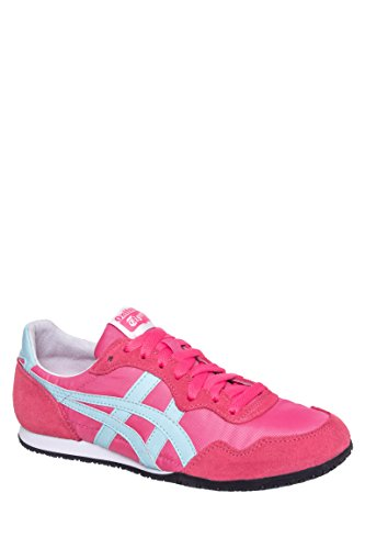 Onitsuka Tiger Women's Serrano Classic Running Shoe, Camelia Rose/Clear Water, 9 M US