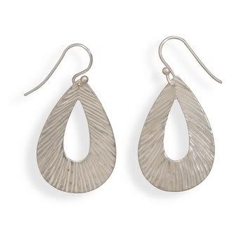 Lined Pear Shape Earrings
