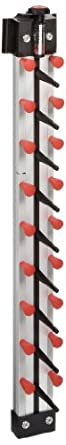 "Plate-Mate WM9-360 Stainless Steel 9 Plates Space Optimizer Wall Mount Catering Rack, Single Sided Column, 65 lbs Capacity, 2-51/64"" Width, 33"" Height"