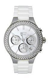 DKNY NY8894 - Reloj para mujeres, correa de cerámica color blanco