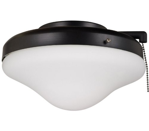 Ellington ELK113-1MBK-W All-Weather Dome Outdoor Ceiling Fan Light Kit - Matte Black