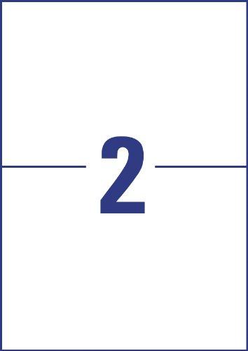Avery Zweckform ELA026 Lot de 100 feuilles de 2 étiquettes universelles Premium 210 x 148,5 mm (Blanc) (Import Allemagne)