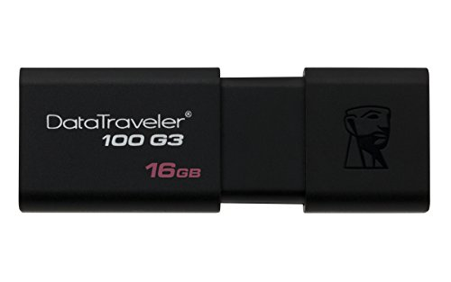 Kingston DT100G3/16GB DataTraveler Chiavetta USB 3.1 da 16 GB, Nero