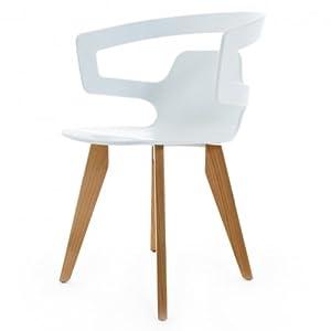 alias 558 segesta wood stuhl wei matt gestell eiche k che haushalt. Black Bedroom Furniture Sets. Home Design Ideas