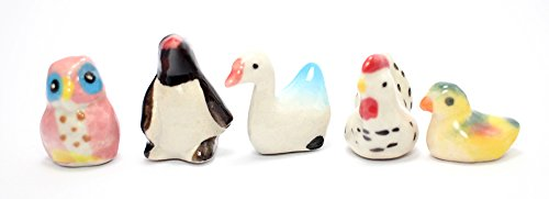 Figurine Dollhouse Miniatures Animals Ceramic Collectible set 5 pcs. (Axis And Allies Starter Kit compare prices)
