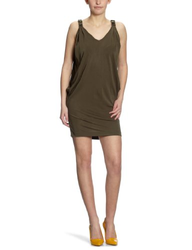 Miss Sixty Seal Women's Dress Military Green X-Large