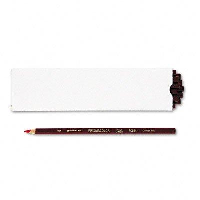 Prismacolor Thick Lead Art Pencils, Crimson Red, 12/Box San03353