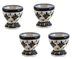 Polish Pottery Egg Cup Set Of 4