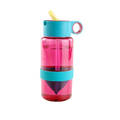 450Ml Lemon Water Bottle Drinking Lemon Water Vitamin C Supplementation (Pink) front-223386