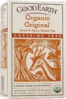 Good Earth Teas - Organic Original Sweet & Spicy Herbal Tea Caffeine Free - 18 Tea Bags by Good Earth Teas