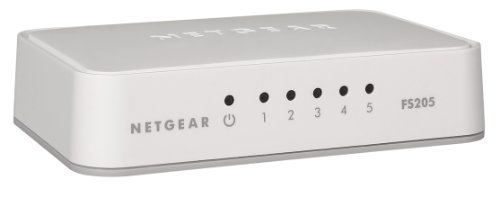Netgear FS205-100PES Fast Ethernet Consumer Switch (5-Port)