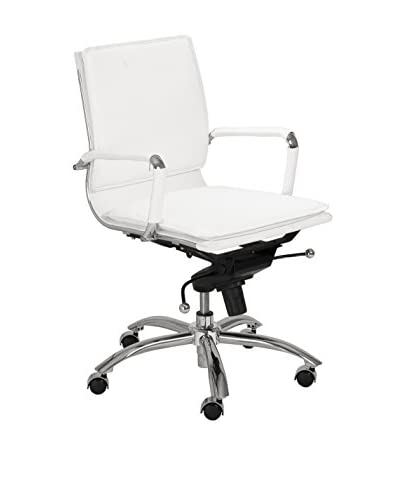 Euro Style Gunar Pro Low Back Office Chair, White