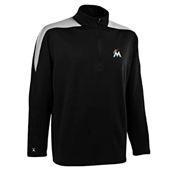 MLB Mens Miami Marlins Succeed Pullover by Antigua