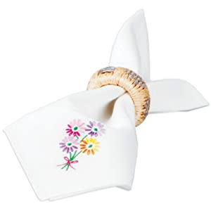 Tobin Kittens Stamped Napkins For Embroidery