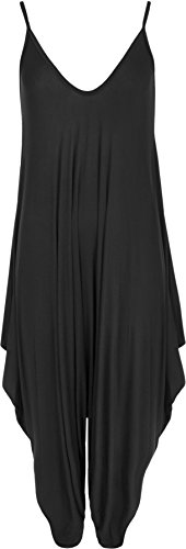 WearAll -  Vestito  - Monospalla - Donna nero Taglia unica