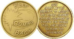 Keep Coming Back - Bronze AA (Alcoholics Anonymous) -ACA-AL-ANON - Sober / Sobriety / Affirmation / Birthday / Anniversary / Desire / Recovery / Medallion / Coin / Chip - 1