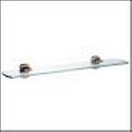 Mensola bagno in vetro loft con staffe in finitura cromata spazzolata