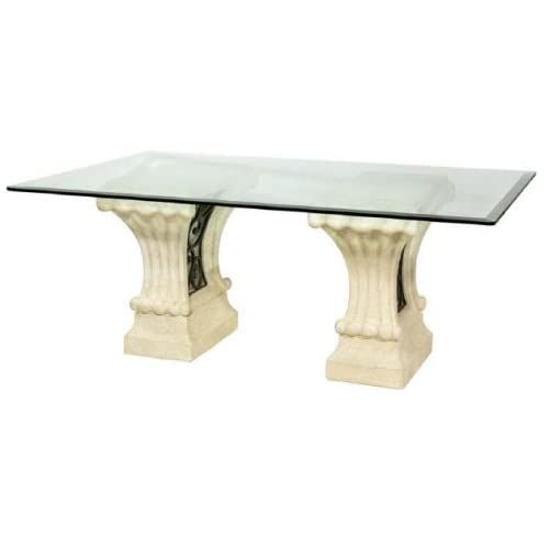 San Pietro Double Pedestal Dining Table BASES ONLY Furniture Decor