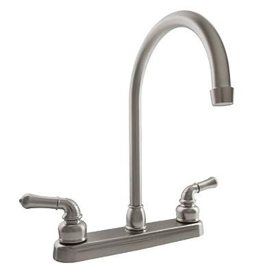 Dura Faucet J-Spout RV Kitchen Faucet - Replacement Faucet for Motorhomes, 5th Wheel, Trailer, Camper