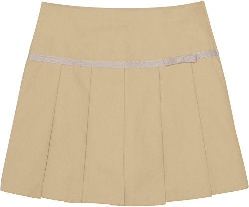 French Toast School Uniforms Pleated Scooter With Grosgrain Ribbon Girls Khaki 2T front-135358