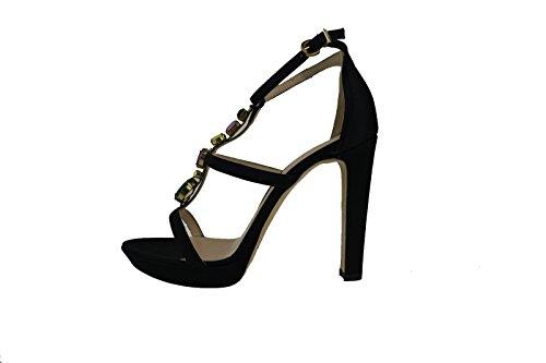 LIU JO sandali donna nero raso AH757 (38 EU)