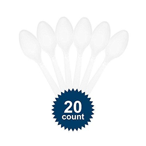 Plastic Spoons White (20 ct)