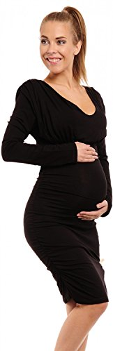 Happy Mama Women's Maternity Bodycon Ruched Dress Fits Bigger Busts Ladies 886