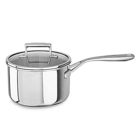 Kitchenaid 3 qt. Tri-Ply Stainless Steel Saucepan (Vista Sauce Pans compare prices)