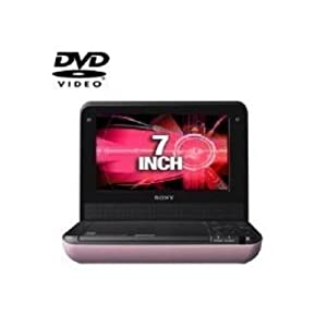 Sony DVP-FX750/P 7-Inch Portable DVD Player, Pink