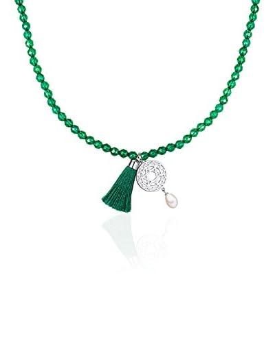Chakra Pearls Collar  Verde / Blanco