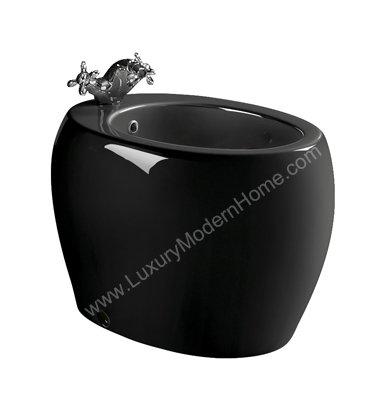 HOSTILIAN BLACK BIDET - Modern European Italian European Deco Decor Washlet Horizontal Spray Bio Beday Biday Zen Feng Shui