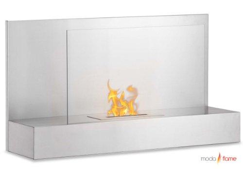 Moda Flame Mira Wall Mounted Ethanol Fireplace In Stainless Steel image B00C9JOBZ0.jpg