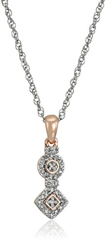 Rose-Gold-Plated-Sterling-Silver-Geometric-Diamond-Pendant-Necklace-110cttw-I-J-Color-I2-I3-Clarity-18