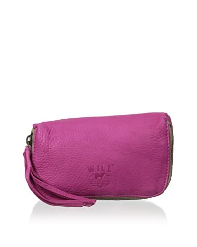 WILL Leather Goods Women's Avery Cosmetic Case, Pink