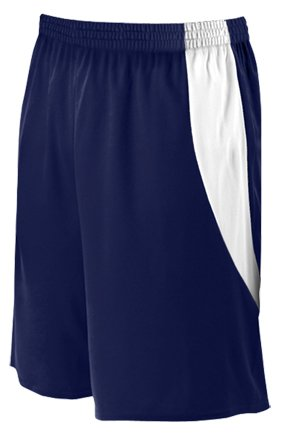 Alleson Athletic Youth Basketball Shorts , Navy|White, M alleson athletic youth unisex reversible basketball shorts kelly green white s