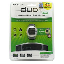 Image of Sportline Duo 1025 Heart Rate Monitor Womens (B008CQ7H5U)