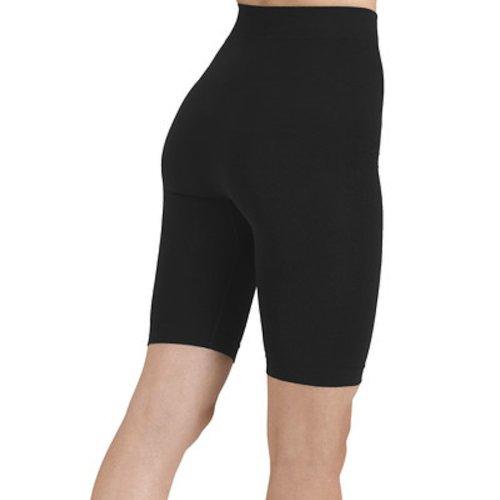 Shape And Slim Second Skin Activwear Slimming Bike Shorts - Black - Large/Xlarge
