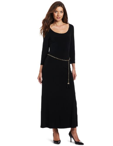Calvin Klein Women's Scoop Neck Maxi Dress