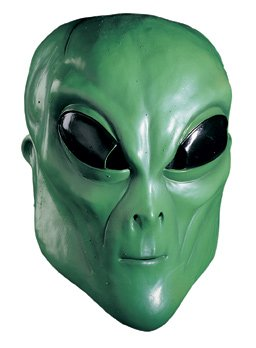 Green Alien Latex Costume Mask