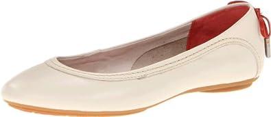 (历史最低) 暇步士Hush Puppies 女士真皮减震轻便鞋黑 Chaste Skimmer$47.56