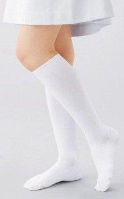 【お得な5足セット】ナースご用達!スリムウォークのように履くだけでむくみスッキリ疲労も軽減!段階着圧レディースハードサポートハイソックス白色