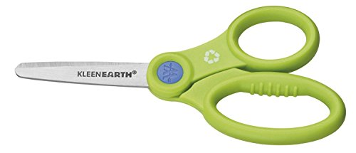 Westcott KleenEarth Recycled Kids Scissors With Anti-microbial Protection, 5-Inch Blunt (14835) - 1
