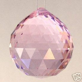 30Mm Vintage Crystal Pink Feng Shui Ball