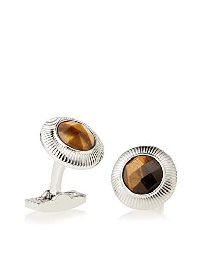 Daniel Dolce Faceted Tiger Eye Stone Cufflinks As You See