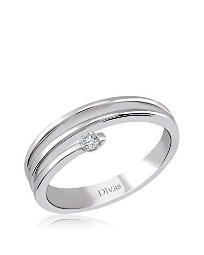 Divas Diamond Anillo Design Solitaire Plata