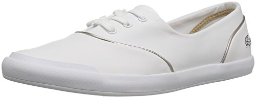 Lacoste Women's Lancelle 3 Eye 316 1 Spw Fashion Sneaker, White, 7.5 M US