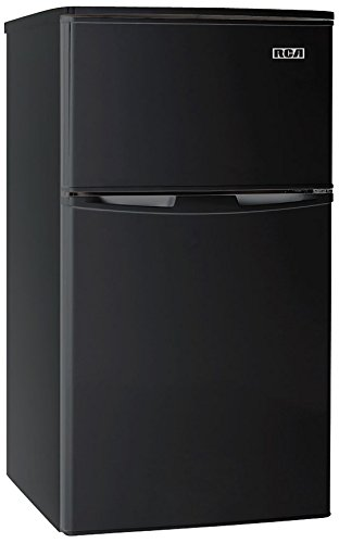 RCA-Igloo 3.2 Cubc Foot 2 Door Fridge and Freezer, Black (2 Door Mini Fridge With Freezer compare prices)