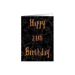 ... .com: Happy 21st Birthday Colorful Design Card Card